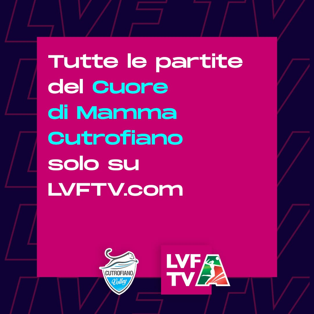 PARTITE IN STREAMING SU LVFTV
